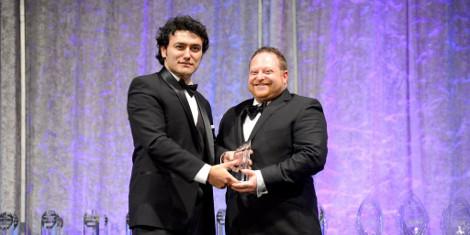 Ben Birns Receiving Winners' Circle Award, 2015